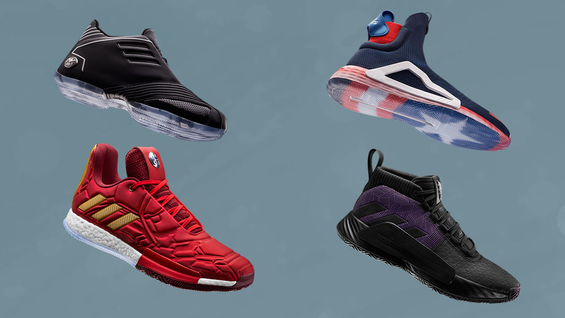 quality design 79d2f 15954 Adidas Basketball and Marvel Team Up for Limited-Edition  Heroes Among Us   Collection
