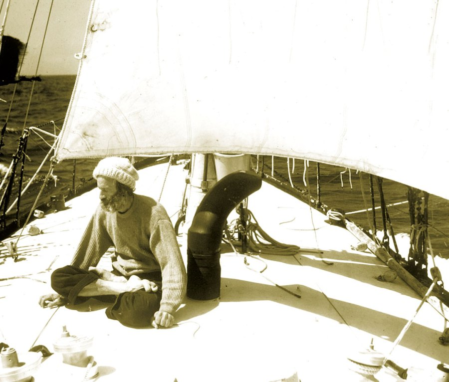 Moitessier during the first Golden Globe Race