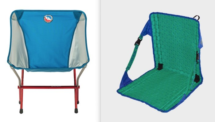 A pair of camp chairs