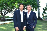 "MONTEGO BAY, JAMAICA - APRIL 25: Director Cary Joji Fukunaga (L) and cast member Daniel Craig attend the ""Bond 25"" film launch at Ian Fleming's Home ÒGoldenEye"" on April 25, 2019 in Montego Bay, Jamaica. (Photo by Slaven Vlasic/Getty Images for Metro Goldwyn Mayer Pictures)"