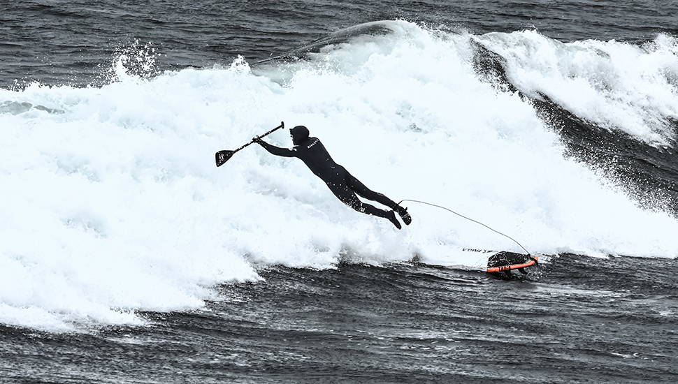 SUP surfing provides a good new challenge.