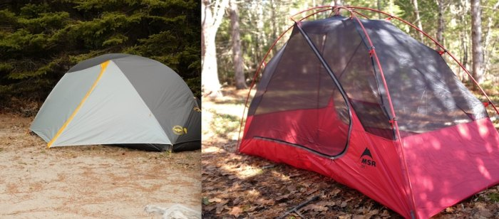 Two types of tents