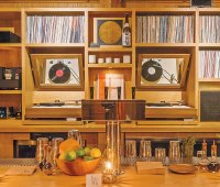 The vinyl collection at L.A.'s In Sheep's Clothing.