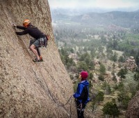 Rock climbing in Cheyenne, Wyoming