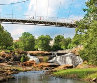 Downtown Greenville in South Carolina