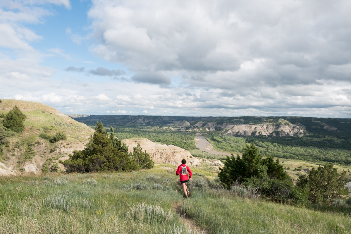 trail running in Theodore Roosevelt National Park