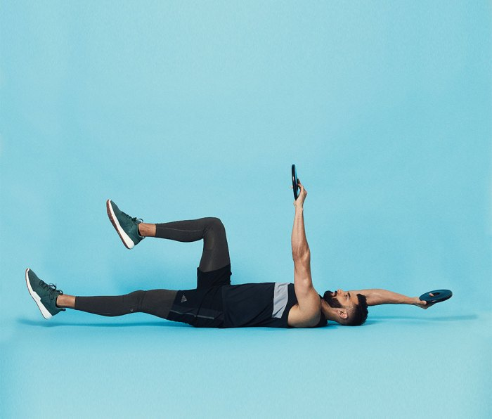 Ab exercise Weighted Dead Bug