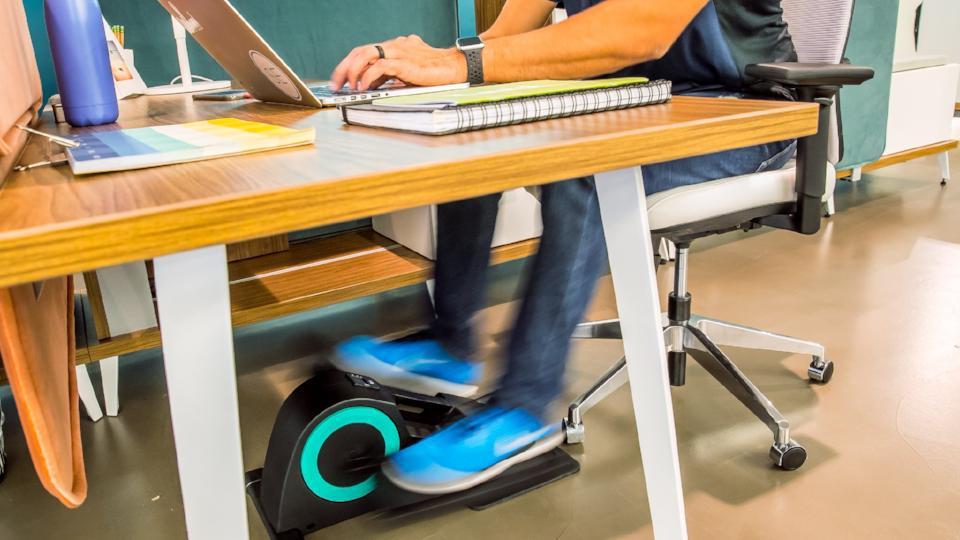 Get Moving, Get Fit, and Lose Weight at Work With This Amazing Desk Elliptical
