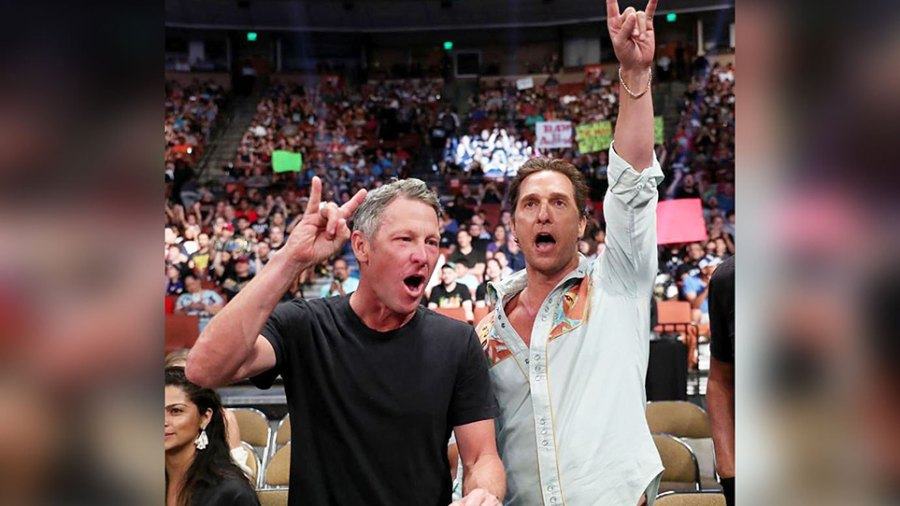 Matthew McConaughey and Lance Armstrong