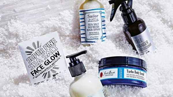 Salt-infused grooming products. Styling by Heather Greene for Hello Artists.