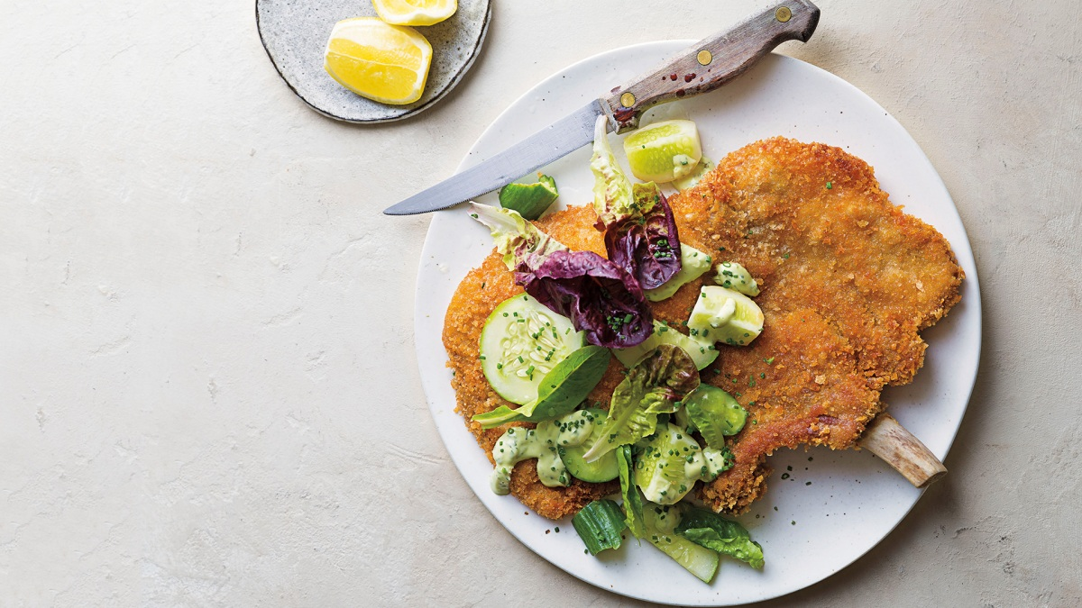 This Pork Schnitzel With Avocado Ranch Will Have You Frying High
