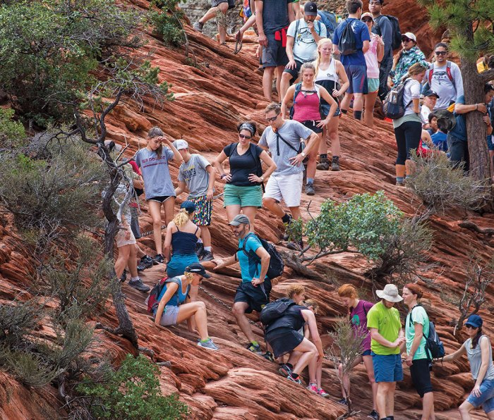 The crowds at Zion: They're not fun to deal with, but it's a clear sign of increased support for national parks.