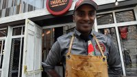 NATIONAL HARBOR, MD - DECEMBER 08: Chef Marcus Samuelsson opens MARCUS at the MGM National Harbor Grand Opening Celebration on December 8, 2016 in National Harbor, Maryland. (Photo by Larry French/Getty Images for MGM National Harbor)