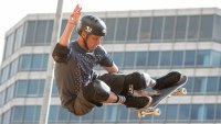 Tony Hawk skates during an exhibition before the Skateboard Vert competition at the X Games Austin on June 5, 2014 at the State Capitol in Austin, Texas. (Photo by Suzanne Cordeiro/Corbis via Getty Images)