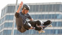 Tony Hawk skates during an muster before a Skateboard Vert foe during a X Games Austin on Jun 5, 2014 during a State Capitol in Austin, Texas. (Photo by Suzanne Cordeiro/Corbis around Getty Images)