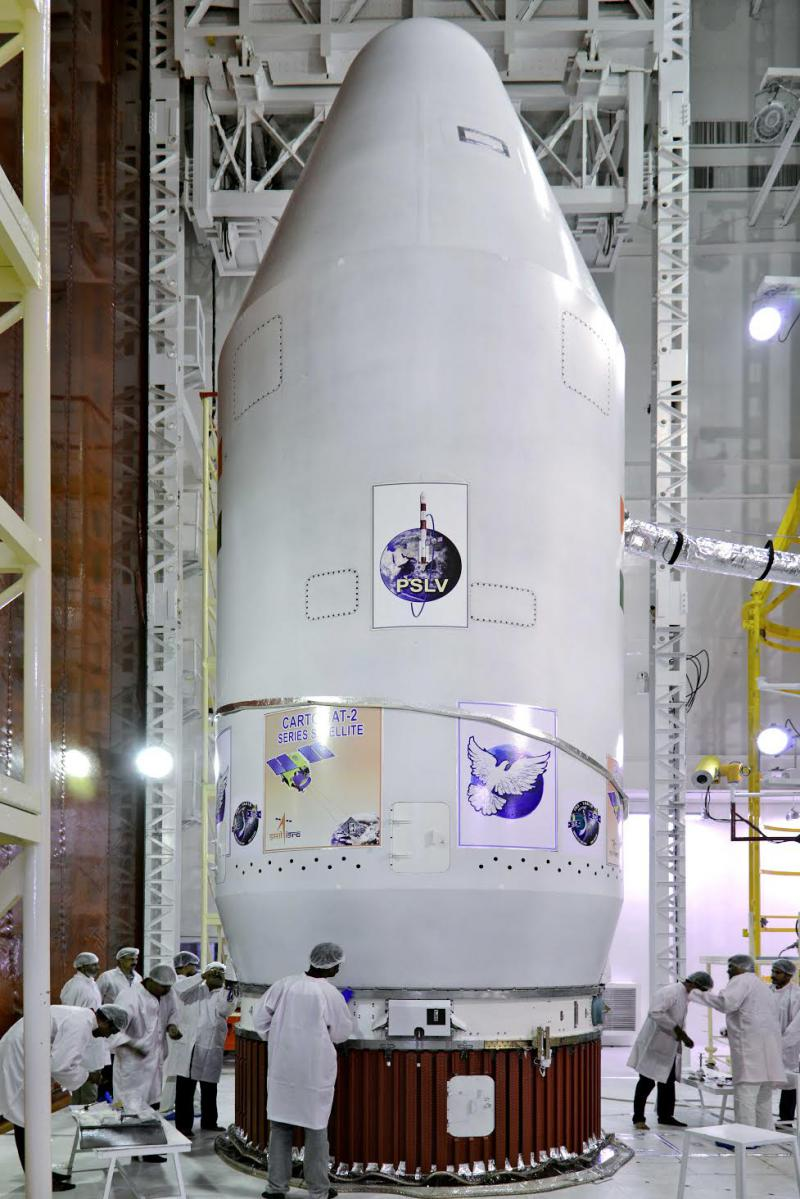 Art on a PSLV being built