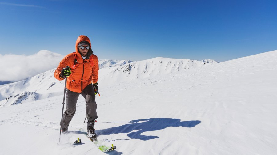 Mike Chambers training at high altitude for Merrell Denali Speed Project