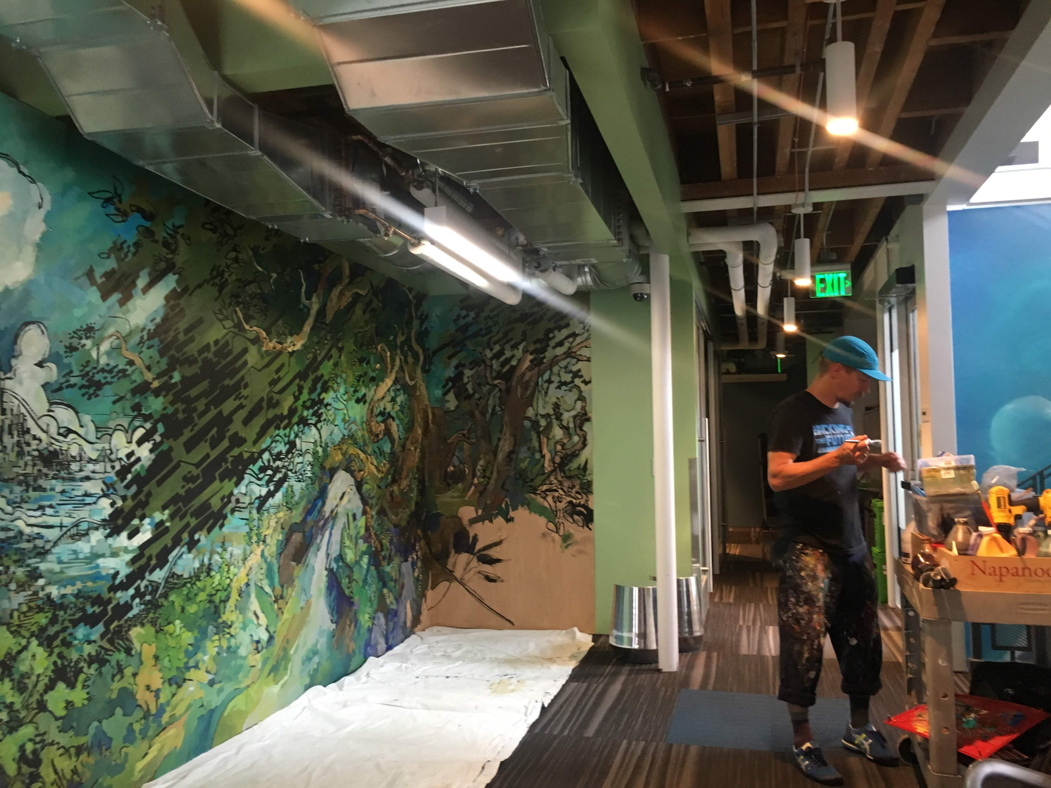 Forest At work in Mountain View mural