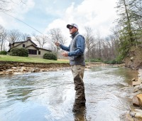 Fly-fishing at Nemacolin Woodlands Resort in Laurel Highlands, PA