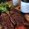 Bodega Zuccardi's Concreto Malbec 2017 vintage red wine and steak