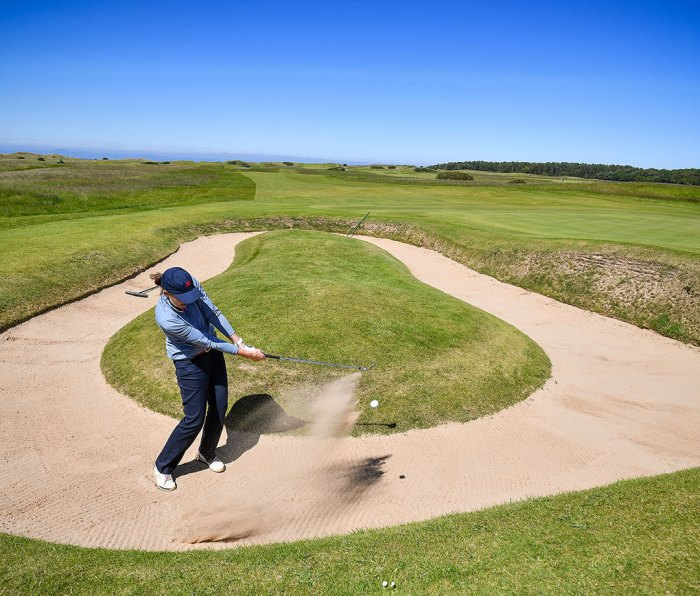 A member of The Honourable Company of Edinburgh Golfers playing at Muirfield