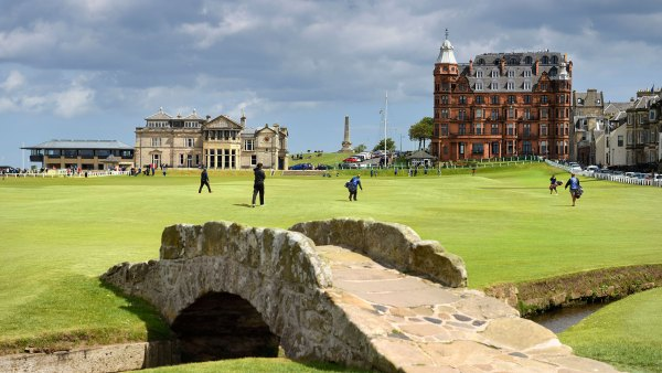 The Old Course at St. Andrew's in Scotland