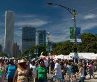 The Taste of Chicago food festival in Grant Park in Chicago, IL