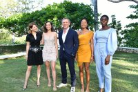 """MONTEGO BAY, JAMAICA - APRIL 25: (L-R) Cast member Lea Seydoux, Ana de Armas, Daniel Craig, Naomie Harris and Lashana Lynch attend the """"Bond 25"""" film launch at Ian Fleming's Home 'GoldenEye' on April 25, 2019 in Montego Bay, Jamaica. (Photo by Slaven Vlasic/Getty Images for Metro Goldwyn Mayer Pictures)"""