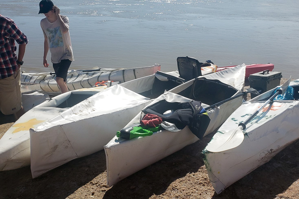 utah boy scouts rescued when homemade canoes sink after river launch. Black Bedroom Furniture Sets. Home Design Ideas