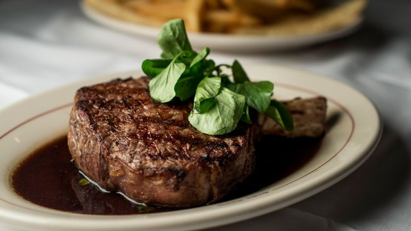 LOS ANGELES - OCTOBER 17: 16 OZ Bone in Ribeye Steak Au Jus with Daily Cut French Fries served at Musso and Frank Grill in Los Angeles, California on Saturday, October 17, 2015. (Photo by Melina Mara/The Washington Post via Getty Images)