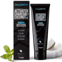 Cali White ACTIVATED CHARCOAL & ORGANIC COCONUT OIL TEETH WHITENING TOOTHPASTE