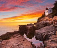 The Bass Harbor Head Lighthouse in Acadia National Park, Maine