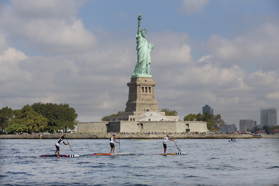 Iconic views during the Statue of Liberty race.