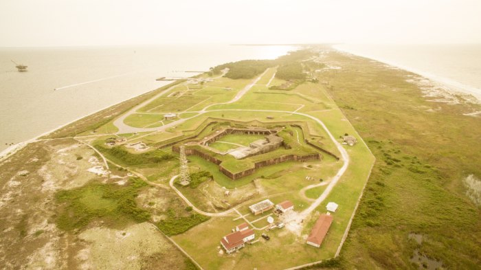 Fort Morgan, the finish of the Great Alabama 650. Image Ford Nixon, courtesy of the Alabama Scenic Trail