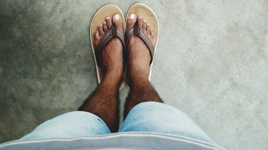 man with sandals