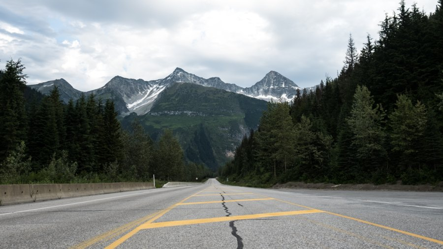 Mountains in Glacier National Park Canada