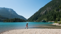 trail runner in North Cascades National Park