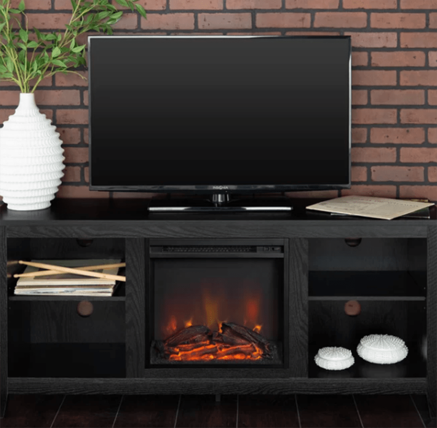 """Sunbury TV Stand for TVs up to 60"""" with Electric Fireplace"""