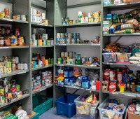 A food bank in Rotherham, England
