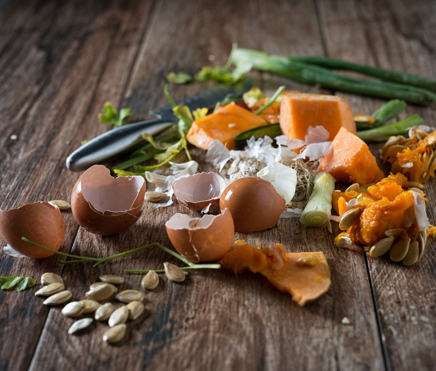 Organic leftovers for composting