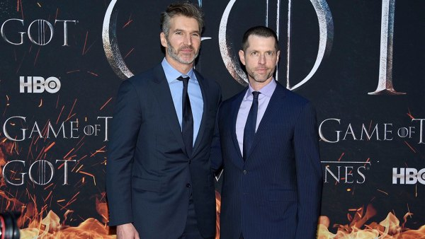 "NY Premiere of ""Game of Thrones"" Final Season, New York, USA - 03 Apr 2019 D. B. Weiss, David Benioff. Creator/executive producers David Benioff, left, and D. B. Weiss attend HBO's ""Game of Thrones"" final season premiere at Radio City Music Hall, in New York"