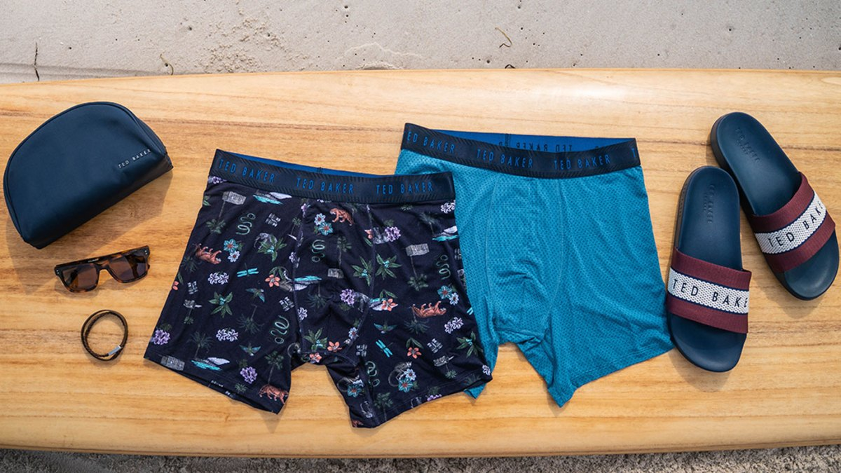 Surfer Sam Hammer Gears Up for a Day at the Beach With the New Ted Baker Underwear Collection