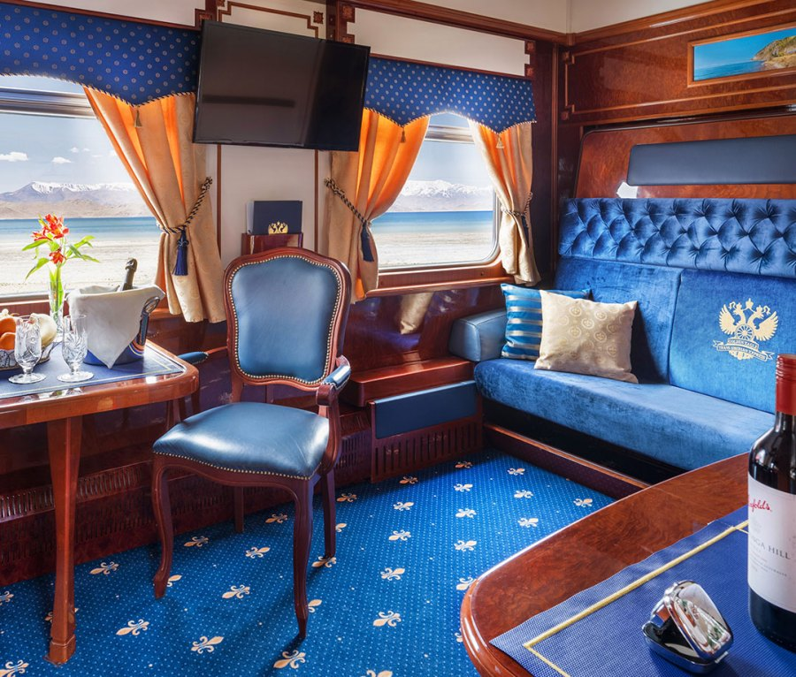 The Imperial Suite aboard the Golden Eagle Trans-Siberian Express