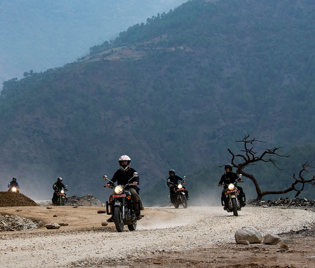 AdventureX's goal is to push its clients by doing things like riding dodgy but spectacular roads.