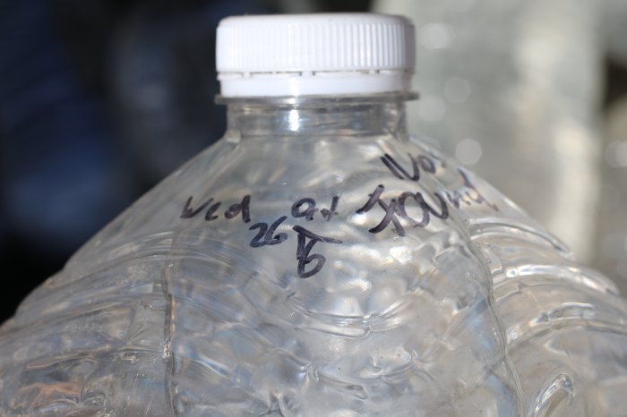 Water bottle with the date 'October 26th, 2016' written on it