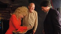 Dolly Parton, writer Dayton Duncan, and Ken Burns