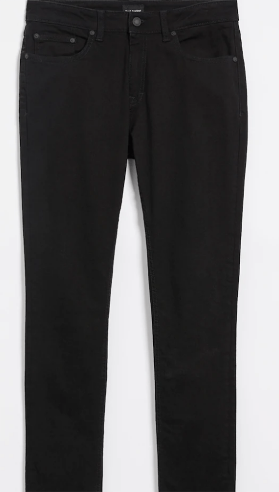 The Miles Straight Stretch Washed Black Jean in Black