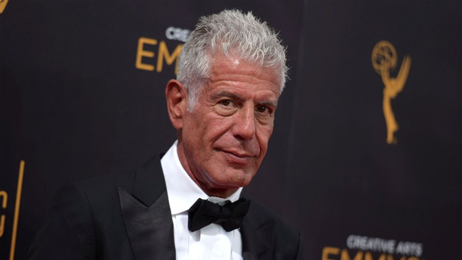 Obit Anthony Bourdain, Los Angeles, USA - 11 Sep 2016 Anthony Bourdain arrives at night two of the Creative Arts Emmy Awards at the Microsoft Theater in Los Angeles. Bourdain has been found dead in his hotel room in France, while working on his CNN series on culinary traditions around the world