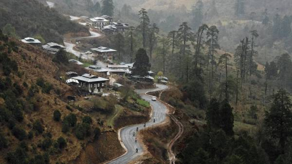 Traveling Bhutan by motorcycle
