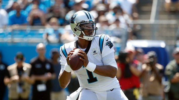 Panthers Football, Charlotte, USA - 08 Sep 2019 Carolina Panthers quarterback Cam Newton (1) looks to pass against the Los Angeles Rams during the first half of an NFL football game in Charlotte, N.C 8 Sep 2019